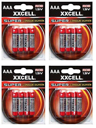 Lot de 16 piles AAA XXCELL Super longue durée 1,5 V R03