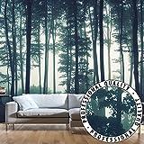 murando® Fototapete 400x280 cm - Vlies Tapete - Moderne Wanddeko - Design Tapete - Wandtapete - Wand Dekoration - Wald Natur Nebel c-B-0223-a-a