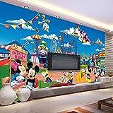 WHYBH Papier Peint Mural 3D Chambre Autocollant (L) 400X (H) 280Cm Anime Cartoon Animation Garçon Fille Chambre Chambre Décoration Murale Papier Peint Salon Couloir Bureau Bar Wall Art Papier Peint