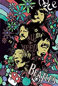 J-4451 the Beatles - John Lennon, Paul Mccartney, George Harrison, Ringo Starr- Rock, Pop Music Collections,decorative Poster Print Vintage New Size: 35 X 24 Inch.