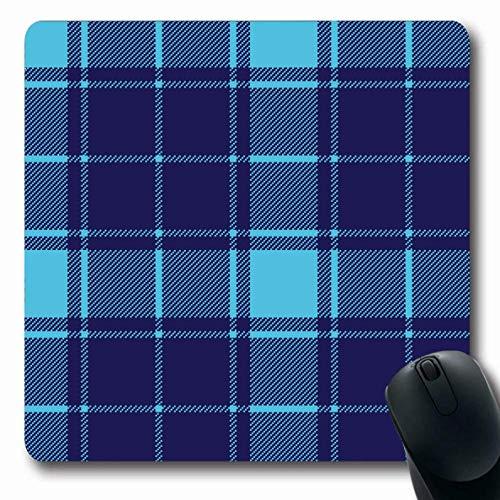 Luancrop Mousepad Oblong Blue Flannel Tartan Zusammenfassung Buffalo Country Plaid Bettwäsche Frühstück Casual Check Picknick Büro Computer Laptop Notebook Mauspad, rutschfeste Gummi (Plaid Bettwäsche)