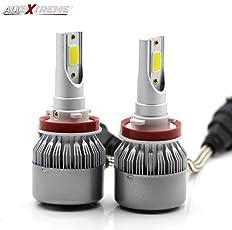AllExtreme C6 H8 Headlight Conversion Kit 36W Car Bulbs 3800LM 6000K AEC6H001 White Waterproof LED (Set of 2)