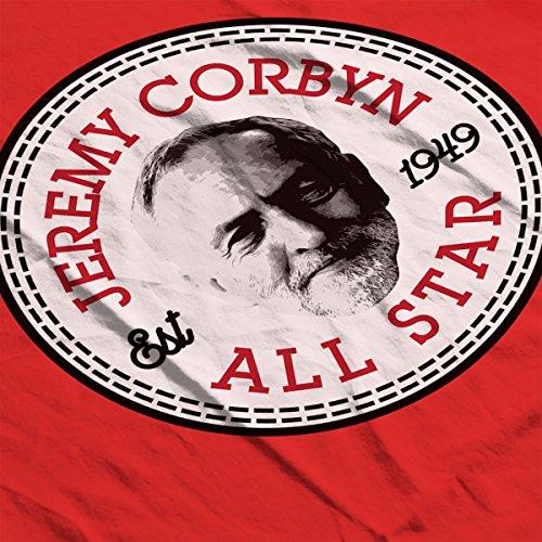 Jeremy Corbyn All Star Converse Logo Men's T-Shirt Red