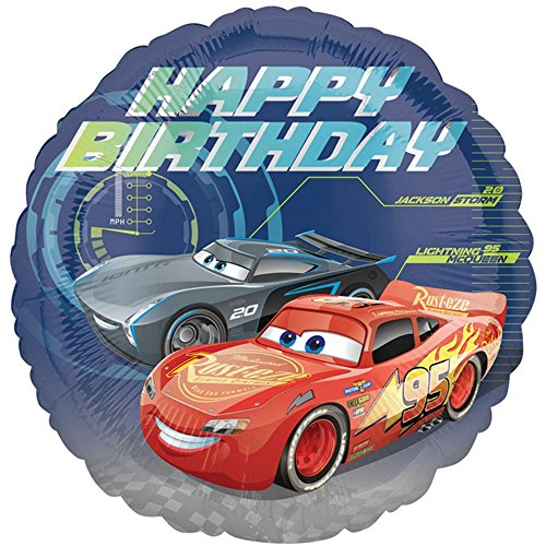Anagram Disney Cars 3 Birthday Folien Ballon (45 cm) (Blau)