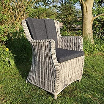 sessel stuhl gartenm bel rattan polyrattan geflecht natur beige braun lyon. Black Bedroom Furniture Sets. Home Design Ideas