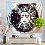 Psychedelic Indian Mandala Bohemian Sun Moon Tapestry Hippie Hippy Tapestry Wall Hanging Decor Hippie Print Tapestry Beach Throw Blanket For Bedroom Living Room Decor 150X130cm(HYC23) (7#)
