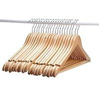 Star Work Clothes Hangers, Wooden Hangers Ultra Thin Space Saving Non-Slip Hangers Velvet Hangers Suit Hangers Ideal for…
