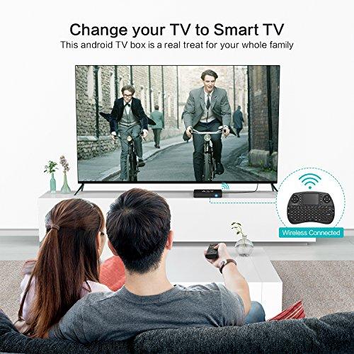 TICTID AX9 Max Android 7 1 TV Box  2GB 16GB EMMC  4K Android Box 2 4G WIFI H 265 Amlogic Quad Core A53 Processor Smart TV Box with Mini Keyboard