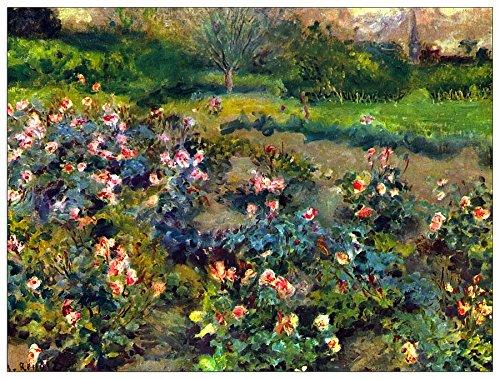 ArtPlaza Renoir Pierre-Auguste - Rose Grove, Dekorative Paneele, Holz, Mehrfarbig, 80 x 1.8 x 60 cm - Pierre Auguste Renoir, Roses