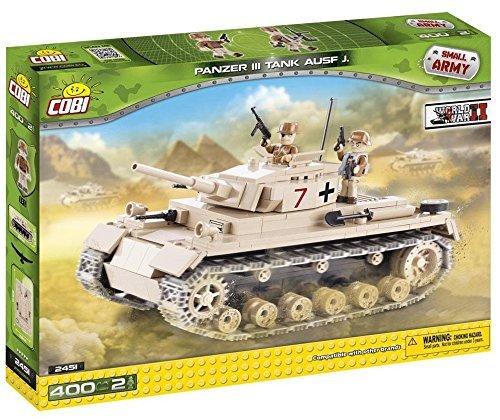 Small Army 2451, WW II German medium tank Panzer III ausf.J, 400 building bricks by Cobi by Small Army