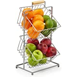 EZOWare Corbeille à Fruits à 2 Étages, Porte Fruits, Panier de Rangement Suspendu pour Cuisine, Placard, Salle de Pain – Arge