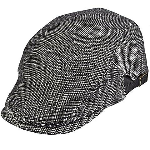 Gorra Con Visera Para Mujer Hombre Unisex Sombrero Boina Algodón (Gris oscuro)