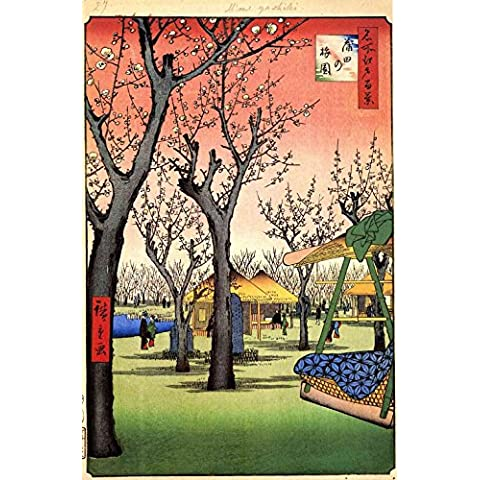 The Museum Outlet – Hiroshige – Plum Garden, Kamata – Canvas Print Online