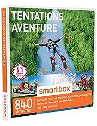 SMARTBOX - Coffret Cadeau - TENTATIONS AVENTURE - 840 activités : CONDUITE DE GT (FERRARI, LAMBORGHINI), VOL EN ULM, SAUT À L'ÉLASTIQUE