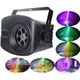 5PCS New LED Disco Party Light Laser Projector Lamp With Portable Stand 52 Pattern Designs For Indoor Club Stage Effect Light