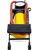 Bellveen Portable High-Pressure Heavy Compressor Foot Pump for Vehicles | Yellow