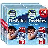 Huggies DryNites Pyjama Pants for Boys, Age 8-15, 54-Count