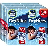 Huggies DryNites Boy hochabsorbierende Pyjamahosen Unterhosen für Jungen 8-15 Jahre, 54 Pieces.