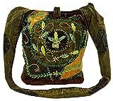 Batik Sadhu Bag , Hippie Tasche, Goa Schulterbeutel - grün / Sadhubag, Hippie Beutel