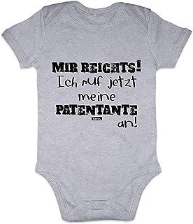 Handmade with Love handbedruckt in Deutschland Mikalino Babybody mit Spruch f/ür Jungen M/ädchen Unisex Kurzarm Meine Patentante ist viel Cooler als Deine v2