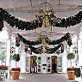 9 ft Decorated Christmas Garland with or without lights