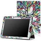 MoKo Lenovo Tab2 A10-70 Funda - Slim Folding Cover Funda para Lenovo Tab2 A10-70 10 inch 2015 Version, Lenovo Tab 2 A10-30(TB2-X30F), Lucky Tree