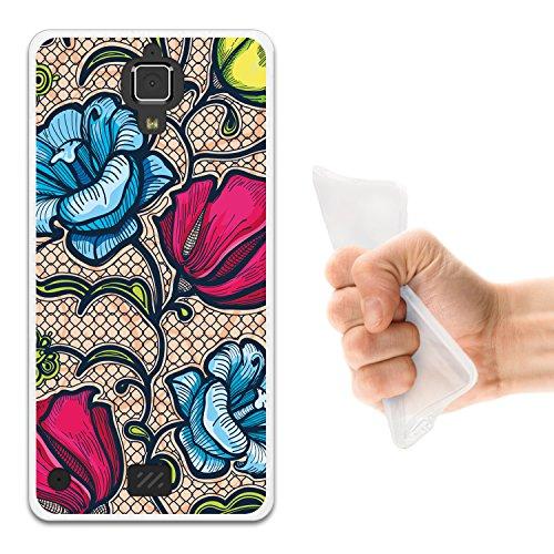 WoowCase Hisense C20 King Kong II 4G Hülle, Handyhülle Silikon für [ Hisense C20 King Kong II 4G ] Mehrfarbige Blumen 2 Handytasche Handy Cover Case Schutzhülle Flexible TPU - Transparent
