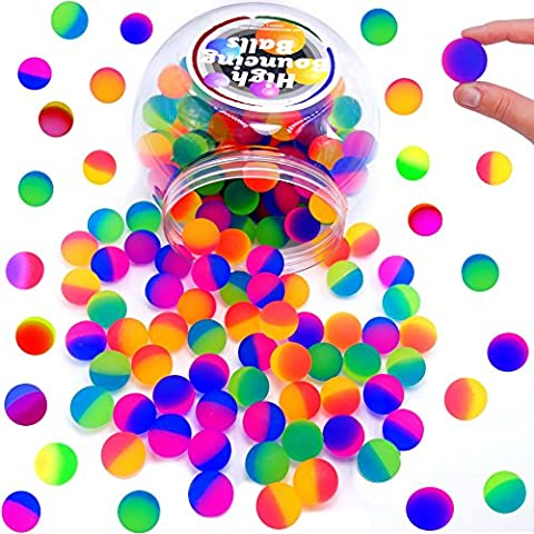 German Trendseller® - 50 x Super Frost Flummis - Mitgebsel ┃ - NEU - ┃ Neon - Hüpf & Spring ┃ Kindergeburtstags Mix ┃ Extra Weich - für Super Sprung - Kraft ✔ ┃ 50 Stück