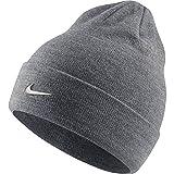 Nike Kinder Beanie Metall Swoosh, Carbon Heather/Metallic Silver, One Size, 825577-091