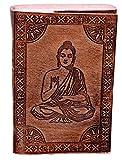 """Purpledip pelle agenda/diario/Notebook """"Buddha in meditazione: naturalmente curati carta rivestita in pelle copertura per regalo aziendale o personali Memoir (10527)"""