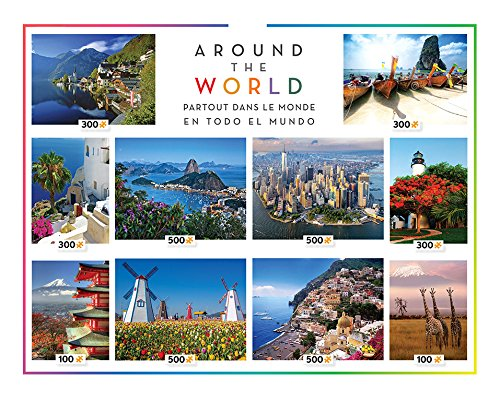 Ceaco 10-in-1 Multi-Pack Around The World Jigsaw Puzzle by Ceaco