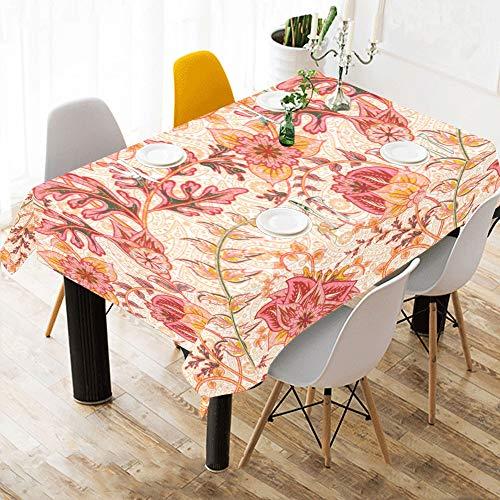 Yushg biancheria da letto in cotone con motivi floreali colorati su misura in lino con motivi floreali tovaglia in cotone con motivi floreali colorati per tende da cucina