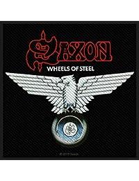 Saxon wheels OF Steel Patch parche 10 x 9,5 cm Heavy Metal