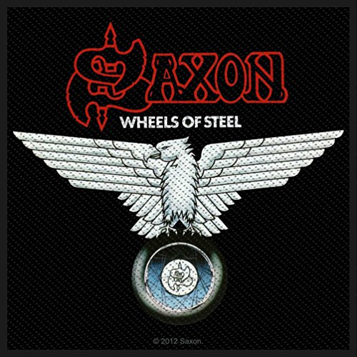 SAXON Aufnäher WHEELS OF STEEL Patch 10 x 9,5 cm Heavy Metal