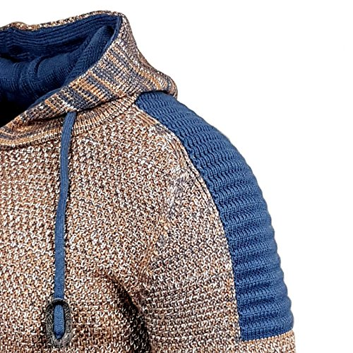RUSTY NEAL Strick-Pullover Kapuzenpullover Grobstrick Strickjacke Jacke 13290-1 Camel