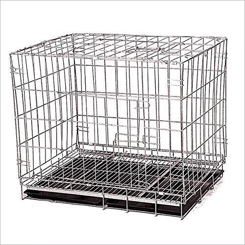 LIULINCUN Cajón Perro Plegable Metal Perro Caja Madera