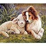 YDPTYANG Bambini Puzzle 1000 Pezzi Cane E Pecore Animali Adulti Puzzle di Legno Creativo Gioco Puzzle Arte Giocattolo Puzzles
