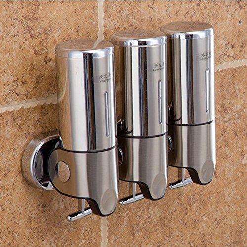 Preisvergleich Produktbild Generic A2: Shampoo Dusche Werk Dusche Shampoo Spender SAPONE LIQUIDO Spender Edelstahl 500ml x3Hand Schaumstoff Seifenspender