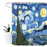 Lonior Duschvorhang Anti-Schimmel Textil Waschbar Anti-Bakteriel Badvorhänge 3D Wasserdicht Duschvorhänge 180x180 cm m