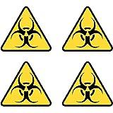 Gasmaske Biogefährdungs Symbol Selbstklebend Vinyl Aufkleber Sicherheit Baumarkt