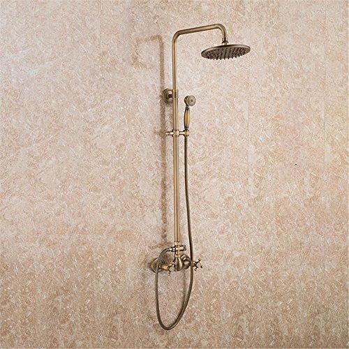 NIHE Douche de douche réversible à trois vitesses de style européen, pleine de douche avec douche en cuivre antique , C