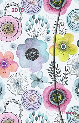 2018 Abstract Flowers Diary - teNeues Large Magneto Diary - Illustrations - 10 x 15 cm por teNeues Calendars & Stationery