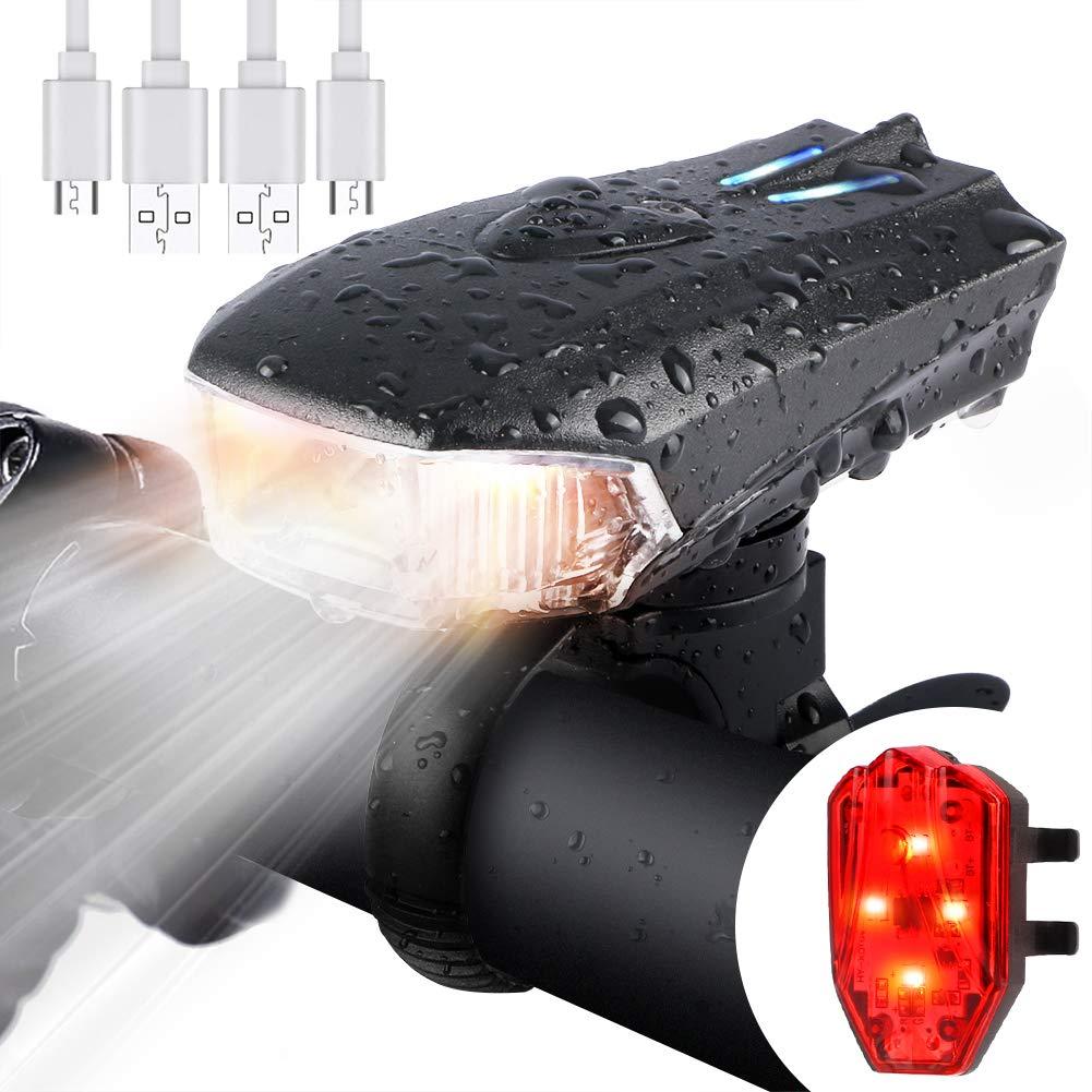 Blu Lampada Di Sicurezza Fanalini Faro Posteriore Della Bicicletta Luce USB LED Ricaricabile Impermeabile