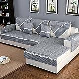 HM&DX Anti-rutsch Sofa abdeckung Für sektionaltore couch Baumwolle Polyester Gesteppter Sofa Überwurf Multi-size Sofahusse Für Wohnzimmer-Dark grey 70x120cm(28x47inch)