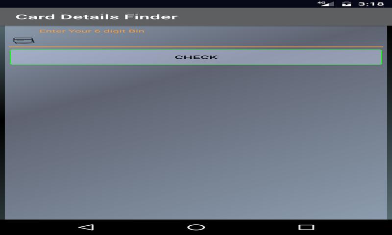 Card Data Checker/Bin Checker: Amazon co uk: Appstore for