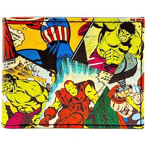 Marvel Avengers Retro Comic Orange Portemonnaie Geldbörse