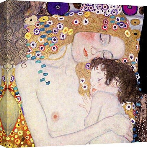 Art Print Cafe – Cuadro – Impresion Sobre Lienzo - Gustav Klimt, Las Tres Edades de la Mujer (Detalle) – 70x70 cm