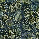 Grün Fallen Design 100% Baumwolle Bali Batik tie dye Muster Stoff für Patchwork, Quilten &,–(Preis pro/Quarter Meter)
