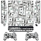 PlayStation 3 PS3 Slim Sticker - Aufkleber Schutzfolie für Sony Playstation 3 PS3 Slim Konsole mit 2 Aufkleber für Playstation DualShock 3 Wireless Controller Big Ballin