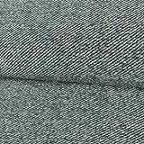 Stoffe Werning Wollstrick diagonaler Streifen blau